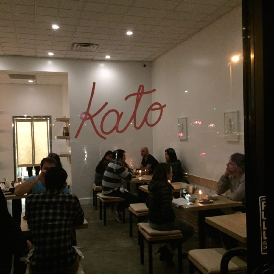 Kato..Los Angeles, 1 Michelin star | los pansionistas